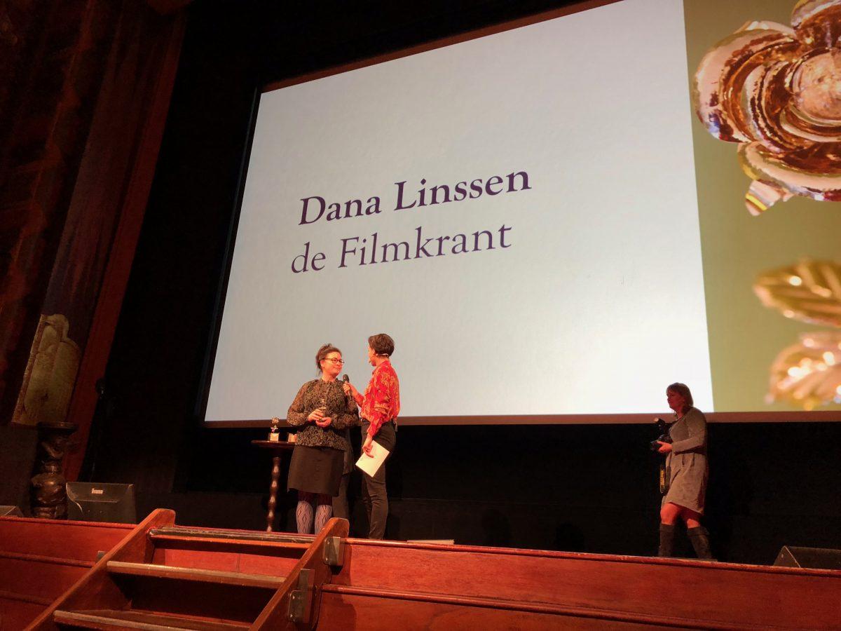 Filmkrant hoofdredacteur Dana Linssen onderscheiden met filmprijs