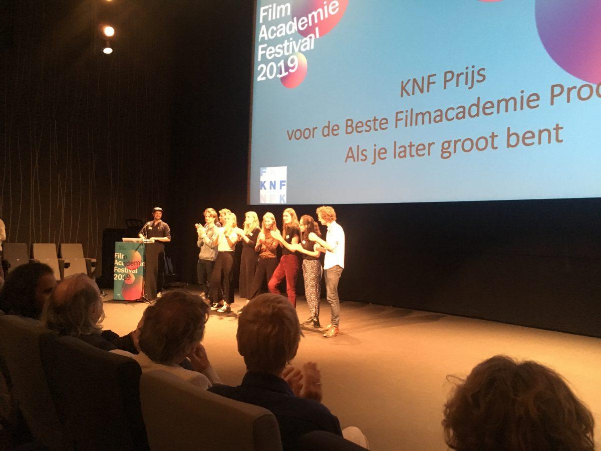 Filmacademie afstudeerfilm 'Als je later groot bent' wint KNF-prijs